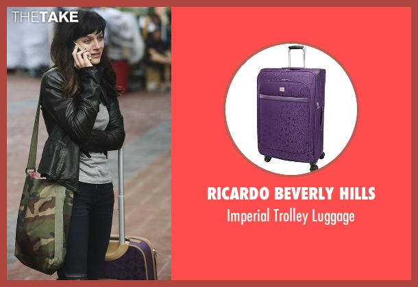 Ricardo Beverly Hills purple luggage from Nashville seen with Layla Grant (Aubrey Peeples)