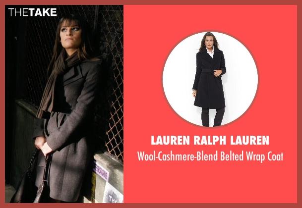 Lauren Ralph Lauren black coat from New Year's Eve seen with Lea Michele (Elise)