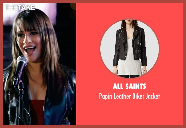 All Saints black jacket from New Year's Eve seen with Lea Michele (Elise)