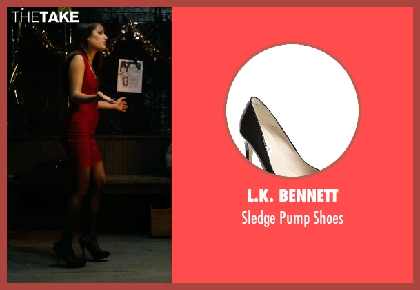 L.K. Bennett black shoes from New Year's Eve seen with Lea Michele (Elise)