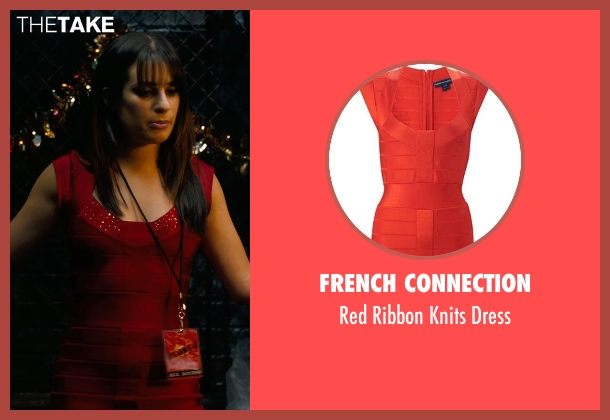 French Connection red dress from New Year's Eve seen with Lea Michele (Elise)