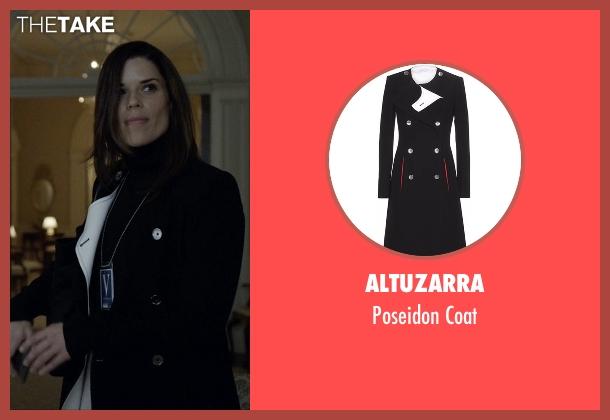 Altuzarra  black coat from House of Cards seen with Leann Harvey (Neve Campbell)