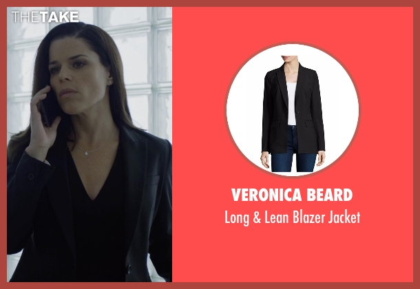 Veronica Beard black jacket from House of Cards seen with Leann Harvey (Neve Campbell)