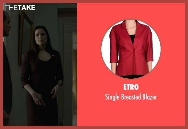 Etro red blazer from House of Cards seen with Leann Harvey (Neve Campbell)