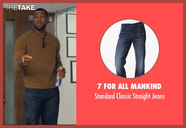 7 For All Mankind blue jeans from Trainwreck seen with LeBron James