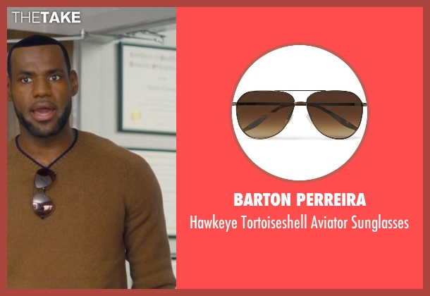 Barton Perreira brown sunglasses from Trainwreck seen with LeBron James