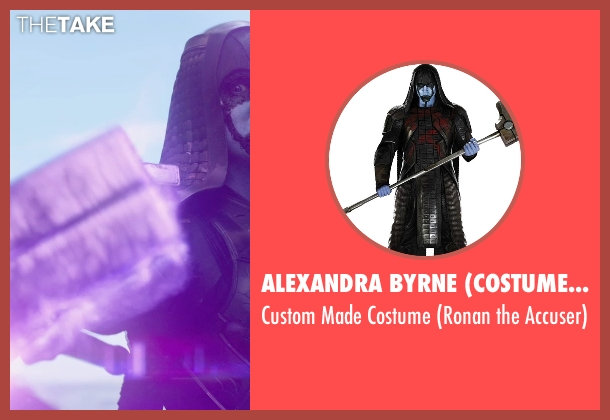 Alexandra Byrne (Costume Designer) costume from Guardians of the Galaxy seen with Lee Pace (Ronan the Accuser)