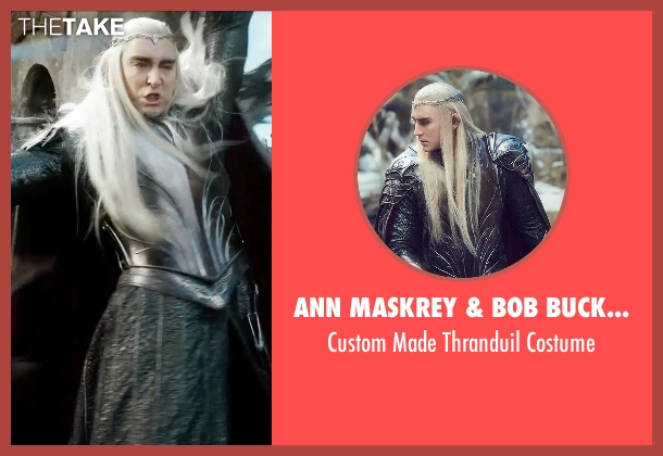 Ann Maskrey & Bob Buck (Costume Designer) costume from The Hobbit: The Battle of The Five Armies seen with Lee Pace (Thranduil)