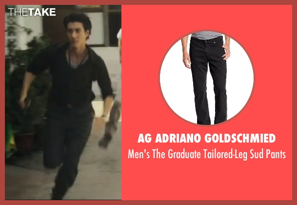 AG Adriano Goldschmied black pants from Blackhat seen with Leehom Wang (Chen Dawai)
