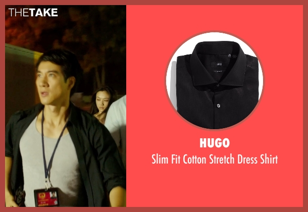 Hugo black shirt from Blackhat seen with Leehom Wang (Chen Dawai)