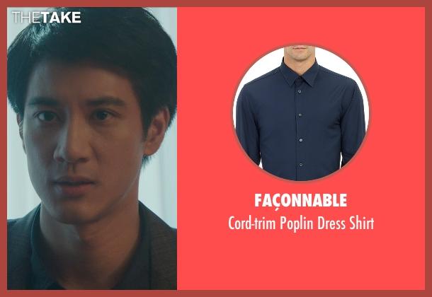 Façonnable blue shirt from Blackhat seen with Leehom Wang (Chen Dawai)