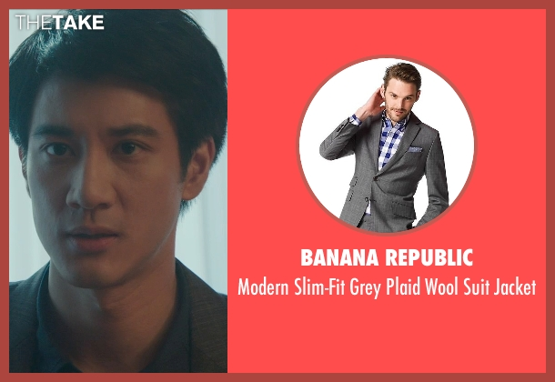Banana Republic gray jacket from Blackhat seen with Leehom Wang (Chen Dawai)