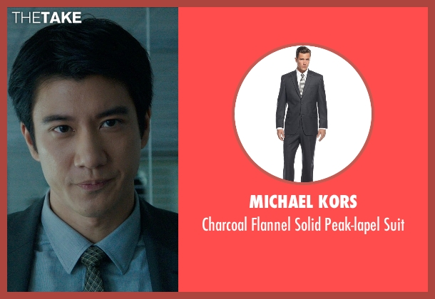 Michael Kors gray suit from Blackhat seen with Leehom Wang (Chen Dawai)