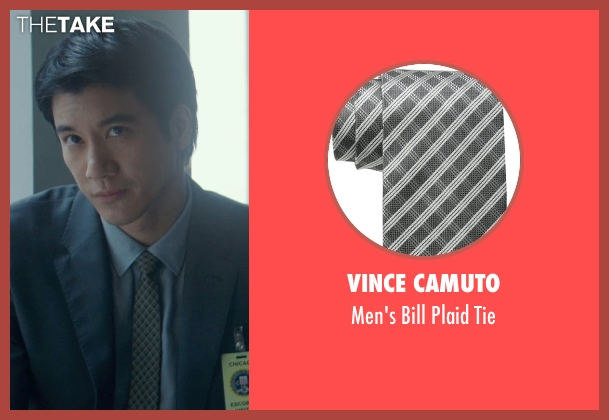 Vince Camuto gray tie from Blackhat seen with Leehom Wang (Chen Dawai)