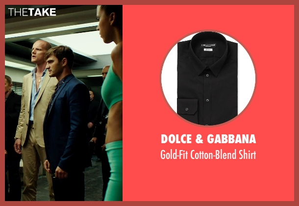 Dolce & Gabbana black shirt from The Transporter: Refueled seen with Lenn Kudrjawizki (Leo Imasov)