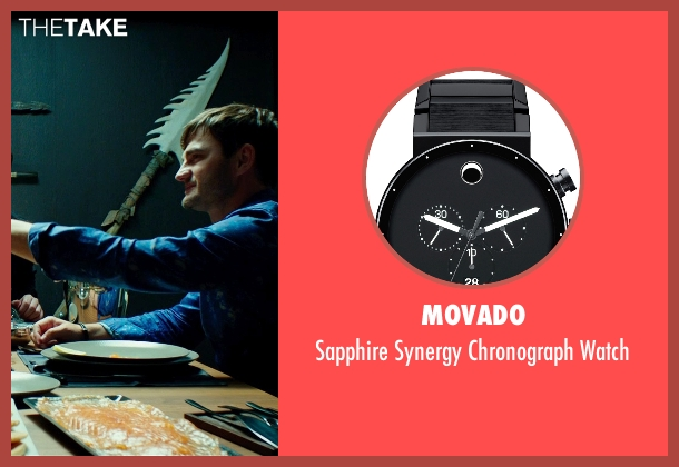 Movado black watch from The Transporter: Refueled seen with Lenn Kudrjawizki (Leo Imasov)