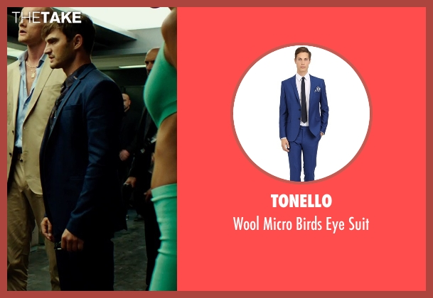 Tonello blue suit from The Transporter: Refueled seen with Lenn Kudrjawizki (Leo Imasov)