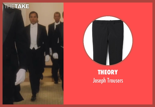 Theory black trousers from Lee Daniels' The Butler seen with No Actor (James Holloway)