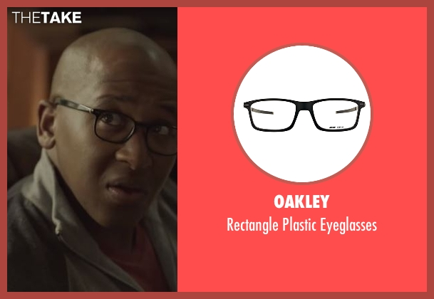Oakley black eyeglasses from Casual seen with Leon (Nyasha Hatendi)