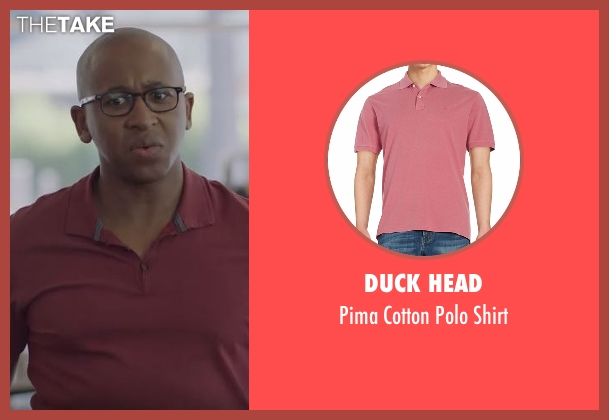 Duck Head red shirt from Casual seen with Leon (Nyasha Hatendi)