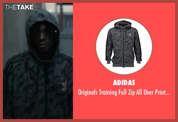 Adidas hoodie from Mr. Robot seen with Leon (Joey Bada$$)