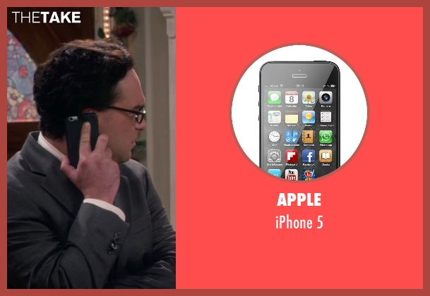 Apple 5 from The Big Bang Theory seen with Leonard Hofstadter (Johnny Galecki)