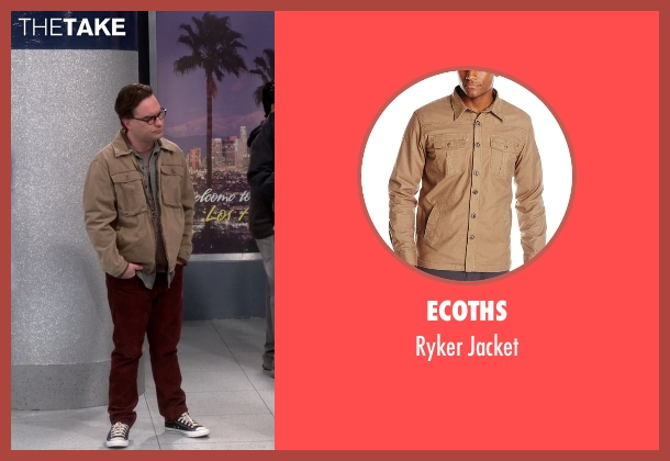 Ecoths beige jacket from The Big Bang Theory seen with Leonard Hofstadter (Johnny Galecki)