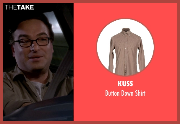 Kuss beige shirt from The Big Bang Theory seen with Leonard Hofstadter (Johnny Galecki)
