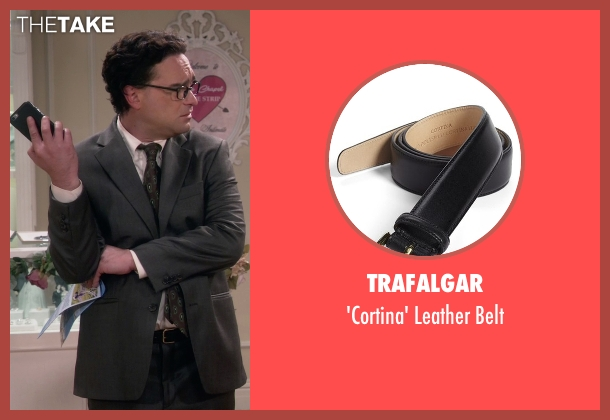 Trafalgar black belt from The Big Bang Theory seen with Leonard Hofstadter (Johnny Galecki)