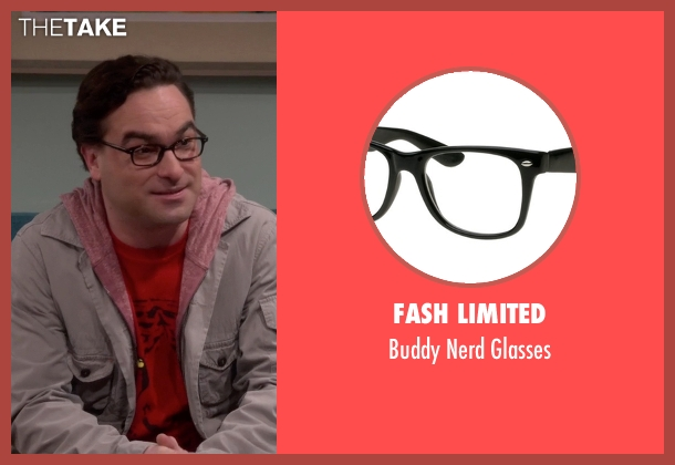Fash Limited black glasses from The Big Bang Theory seen with Leonard Hofstadter (Johnny Galecki)