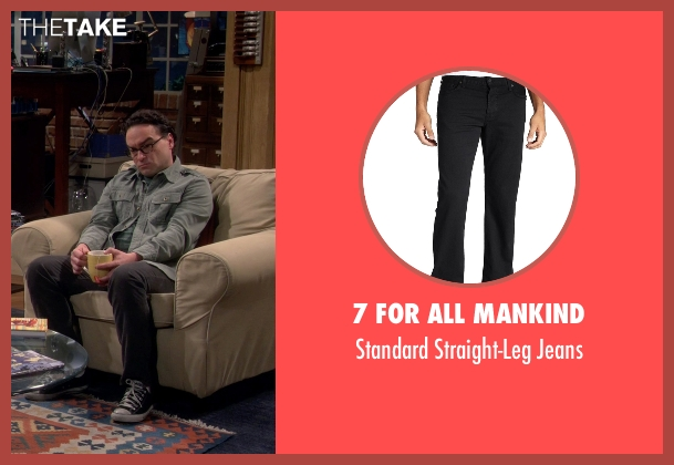 7 For All Mankind black jeans from The Big Bang Theory seen with Leonard Hofstadter (Johnny Galecki)