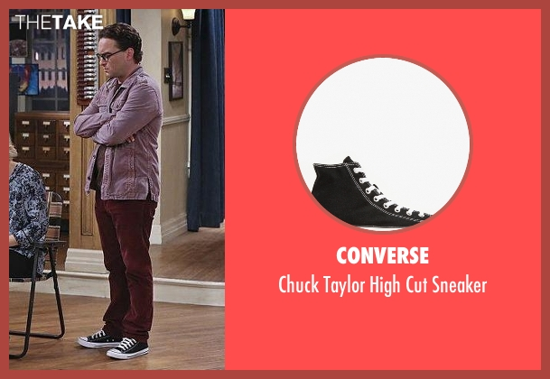 Converse black sneaker from The Big Bang Theory seen with Leonard Hofstadter (Johnny Galecki)
