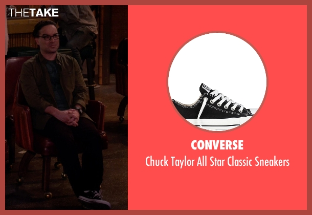 Converse black sneakers from The Big Bang Theory seen with Leonard Hofstadter (Johnny Galecki)