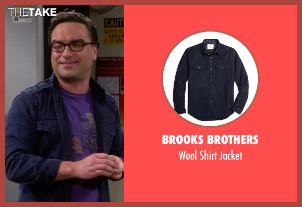 Brooks Brothers blue jacket from The Big Bang Theory seen with Leonard Hofstadter (Johnny Galecki)