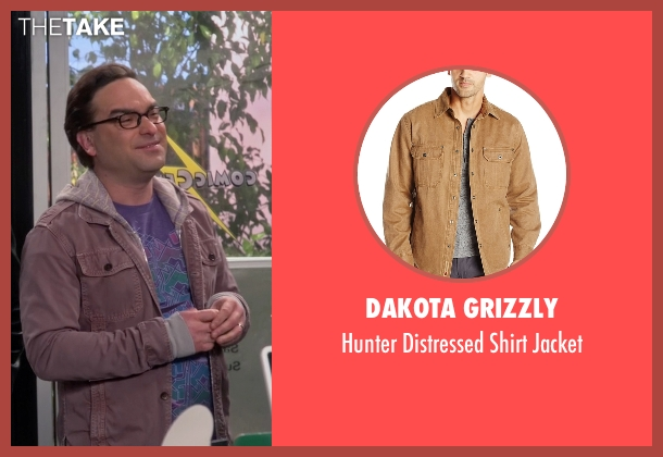 Dakota Grizzly brown jacket from The Big Bang Theory seen with Leonard Hofstadter (Johnny Galecki)