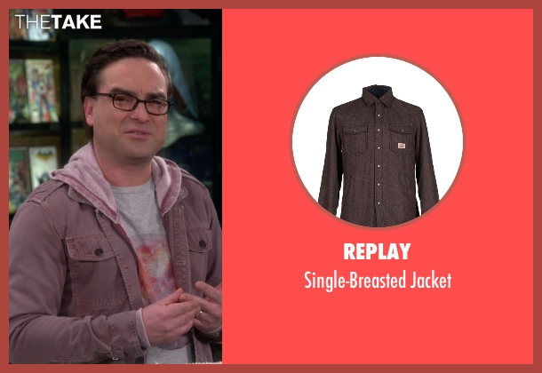 Replay brown jacket from The Big Bang Theory seen with Leonard Hofstadter (Johnny Galecki)