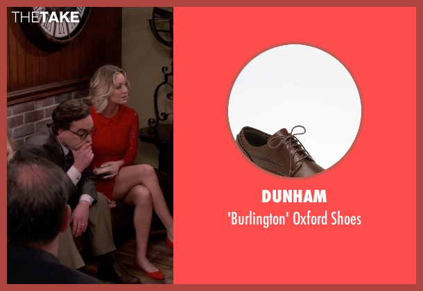 Dunham brown shoes from The Big Bang Theory seen with Leonard Hofstadter (Johnny Galecki)