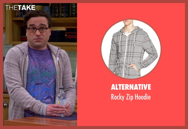Alternative gray hoodie from The Big Bang Theory seen with Leonard Hofstadter (Johnny Galecki)