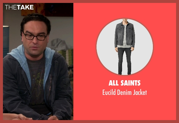 All Saints gray jacket from The Big Bang Theory seen with Leonard Hofstadter (Johnny Galecki)