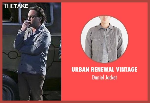 Urban Renewal Vintage gray jacket from The Big Bang Theory seen with Leonard Hofstadter (Johnny Galecki)