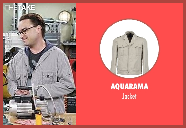 Aquarama gray jacket from The Big Bang Theory seen with Leonard Hofstadter (Johnny Galecki)