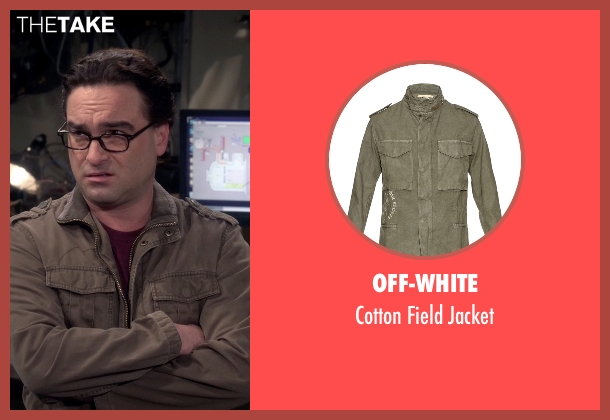 Off-White gray jacket from The Big Bang Theory seen with Leonard Hofstadter (Johnny Galecki)