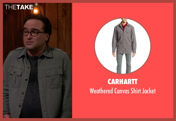 Carhartt gray jacket from The Big Bang Theory seen with Leonard Hofstadter (Johnny Galecki)