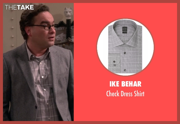 Ike Behar gray shirt from The Big Bang Theory seen with Leonard Hofstadter (Johnny Galecki)