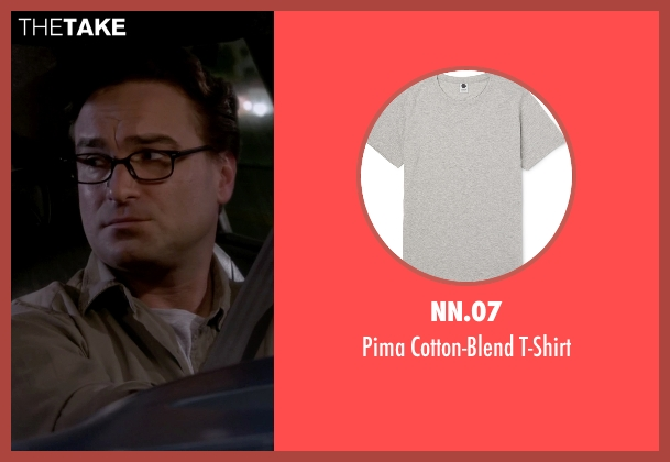 NN.07 gray t-shirt from The Big Bang Theory seen with Leonard Hofstadter (Johnny Galecki)