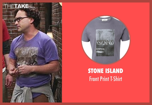 Stone Island gray t-shirt from The Big Bang Theory seen with Leonard Hofstadter (Johnny Galecki)