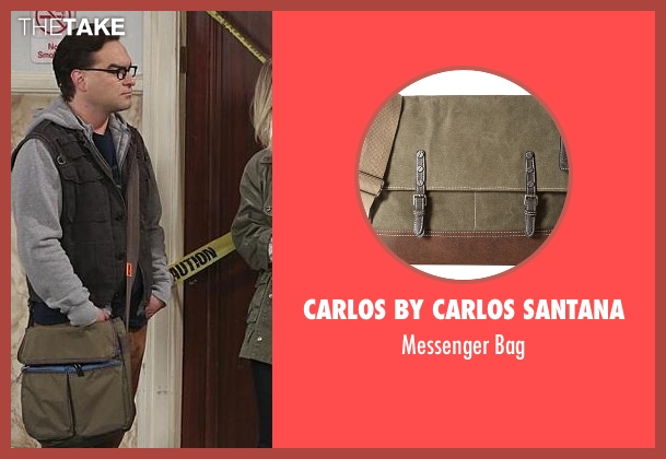 Carlos by Carlos Santana green bag from The Big Bang Theory seen with Leonard Hofstadter (Johnny Galecki)