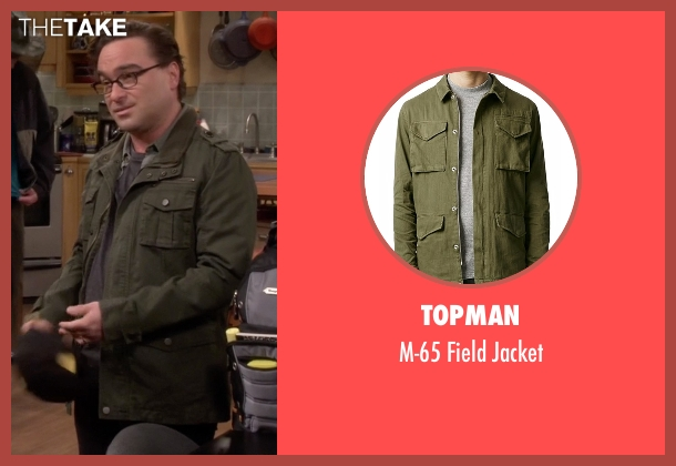 Topman green jacket from The Big Bang Theory seen with Leonard Hofstadter (Johnny Galecki)