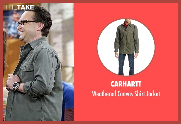 Carhartt green jacket from The Big Bang Theory seen with Leonard Hofstadter (Johnny Galecki)
