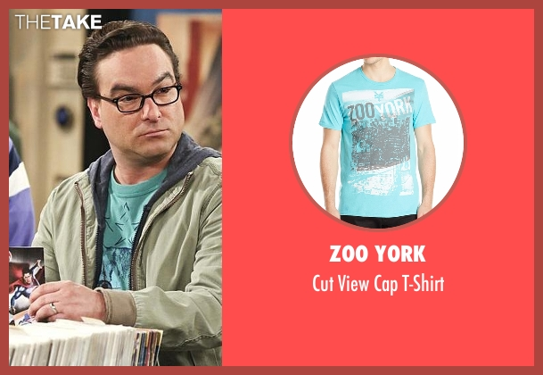 Zoo York green t-shirt from The Big Bang Theory seen with Leonard Hofstadter (Johnny Galecki)